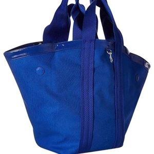 Rebecca Minkoff Fan Reversible PVC Tote Blue